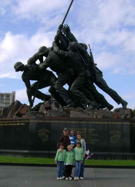 The Andersons at The Marine Corps War Memorial (Iwo Jima)